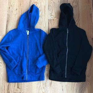 2 boys old navy zip up hoodies size small